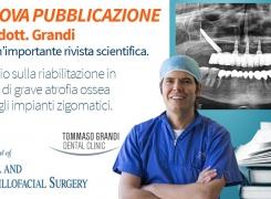 Nuova Pubblicazione Scientifica sugli impianti zigomatici del dott. Grandi su un'importante rivista scientifica.