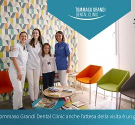 La T. Grandi Dental Clinic dispone di una sala d'attesa dedicata ai Bambini