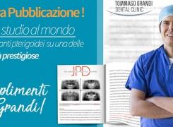 Pubblicazione scientifica: Primo studio al mondo sulle riabilitazioni con impianti pterigoidei